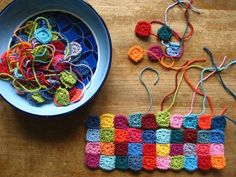 How to Make Mini-Granny Squares. Squares are Mini-not Granny! Possible Use as Jewelry components