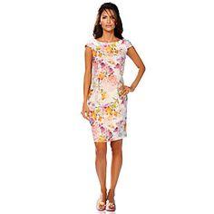 Kleid in eleganter, klassischen Form im Blumendruck