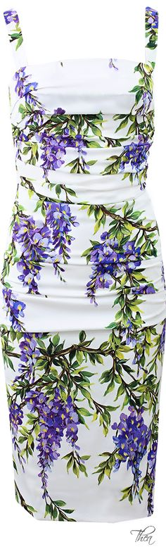 Dolce And Gabbana Ruched Wisteria Dress | House of Beccaria~