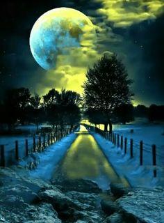 limegreen moon