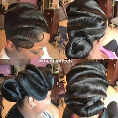 Waves And Ponytail On Fleek Curls Buns Braids Bobs