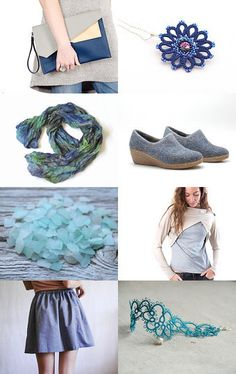 JAT - Jeansblue, aqua and turquoise shades by Karin Pichler on Etsy--Pinned with TreasuryPin.com