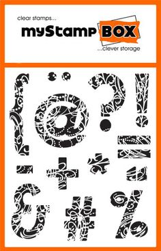 Fleurishing Punctuation - clear stamps -  stamp set from myStamp BOX
