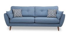 French Connection 3 Seater Sofa Zinc Express Smooth angled arms, rounded seats and button-back cushions combine to create the ultimate in relaxed cool. Dfs Zinc Sofa, Dfs Sofa, 2 Seater Sofa, Cuddler Sofa, Scatter Cushions, Cushions On Sofa, Sofa Design, French Connection Sofa, Kitchen Sofa