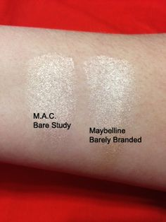 Maybelline Color Tattoo in Barely Branded is almost an exact dupe for M.A.C Paint Pot in Bare Study!