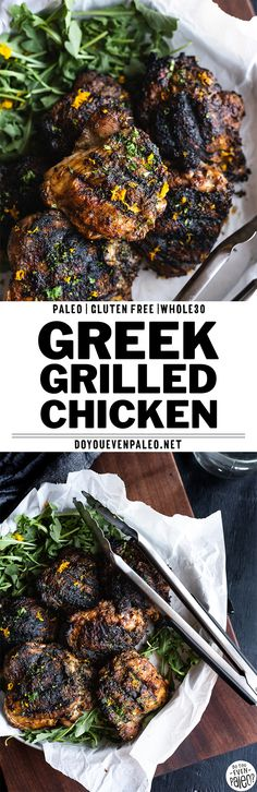 Greek-Rubbed Grilled Chicken Thighs - Spice up your summer with Greek-Rubbed Grilled Chicken Thighs! This dead-simple greek spice rub makes amazing Whole30 and paleo grilled chicken thighs. With spices you probably already have in your pantry like oregano, thyme, parsley, garlic, and onion, this spice rub comes together quickly to add a punch of flavor to grilled chicken! A simple summer grilling recipe. #paleo #paleorecipes #glutenfree