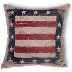 Boston International Statue of Liberty Star Polyester Throw Pillow (40 CAD) ❤ liked on Polyvore featuring home, home decor, throw pillows, red accent pillows, red home decor, red white and blue home decor, red throw pillows and star throw pillow