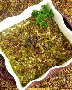 Ash-e Somagh - Persian Soup with rice, lentils, and lots of fresh herbs.  Can be made with meatballs.