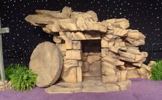 replica of Christ's Tomb constructed as a stage prop for a church's Easter Sunday service.Foam replica of Christ's Tomb constructed as a stage prop for a church's Easter Sunday service. Christ Tomb, Jesus Tomb, Easter Play, Easter Story, Design Set, Church Stage Design, Church Banners, Stage Decorations, Easter Crafts