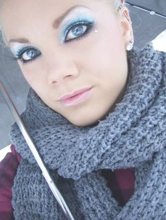 Icy winter makeup