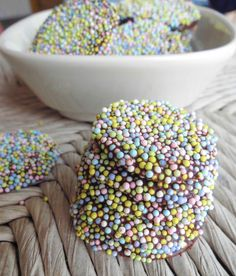 Homemade Dark Chocolate Nonpareils