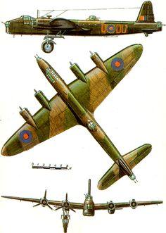 Short Stirling Mk I ' British heavy bomber, RAF 1941 Air Force Bomber, Air Force Aircraft, Ww2 Aircraft, Military Aircraft, Air Fighter, Fighter Jets, Flying Wing, Lancaster Bomber, Flying Vehicles