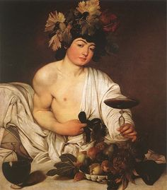 """Dionysus {god of the grape harvest, winemaking and wine} """"he who runs among the trees""""; son of Zeus and Semele [rm: Bacchus]"""