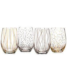 Mikasa Cheers Party Stemless Wine Glasses, Set of 4 - A Macy's Exclusive