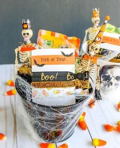 Halloween Party Favors - Black and Orange Boo - Halloween Hair Accessories
