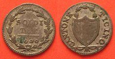 1838 Schweiz - Tessin Swiss TICINO 3 Soldi 1838 billon VF+ # 89160 VF+