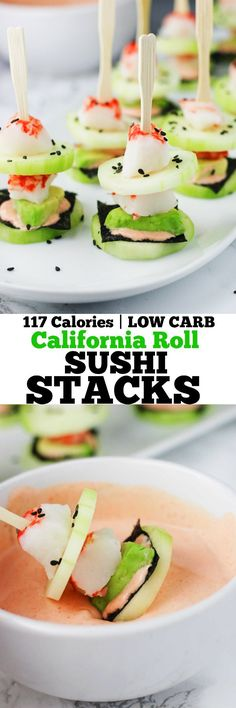 Roll Low Carb Sushi Stacks These California Roll Low Carb Sushi Stacks are deliciously refreshing and ready in 10 minutes! These California Roll Low Carb Sushi Stacks are deliciously refreshing and ready in 10 minutes! Low Carb Sushi, Low Carb Lunch, Low Carb Keto, Low Carb Recipes, Healthy Recipes, Paleo Sushi, Snacks Recipes, Healthy Dinners, California Rolls