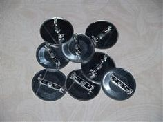 Buttons - Attached Brooch Backs 38mm & 45mm - BBBA01