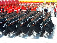 Cadets and officer-scholars of the PLA National Defense University marching through Tiananmen Square in the 2009 Chinese National Day Parade.