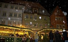 Christmas market in Rothenburg ob der Tauber, Bavaria, Germany