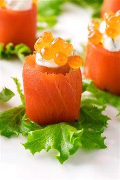 Sushi-style Smoked Salmon Rolls