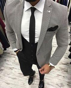 Likes, 41 Comments - Men Dress Suits For Men, Suit And Tie, Men Dress, Indian Men Fashion, Mens Fashion Suits, Mens Suits, Blazer Outfits Men, Formal Men Outfit, Moda Formal