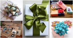 10 Simple DIY Holiday Gift Bows And Wrapping Ideas From Everyday Materials