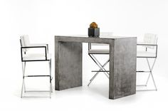 Modern Microfiber Patio furniture in Grey - $654.5 -- Features: Dark Grey Fiber Reinforced Natural Concrete Table #LAfurniture #LAfurnitureStore #Furnituredesign #HomeDecor #Patio #PatioFurniture