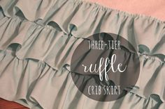 solid threetier ruffle crib skirt by iviebaby on Etsy, $128.00
