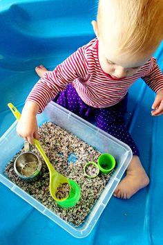 Childhood 101 Sensory Play Activity Ideas-Rosemary Rice. Great for toddlers and preschoolers.