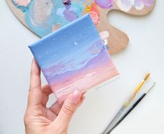 Diy Art Painting, Cloud Painting Acrylic, Small Canvas Paintings, Modern Art Paintings Abstract, Simple Canvas Paintings, Art Painting Acrylic, Diy Canvas Art Painting, Canvas Art, Cute Canvas Paintings