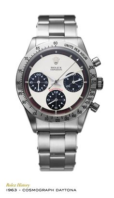 To commemorate the importance of Daytona, Rolex named a watch in its honour. Designed for endurance racing drivers, the Cosmograph Daytona featured a chronograph for measuring lap times and a tachymetric scale on the bezel for calculating average speed. #RolexOfficial