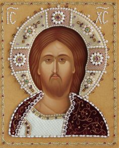 Icon of the Holy Savior - Icons in Oklad - http://catalog.obitel-minsk.com/iom-03-01-wedding-set-2.html?&___store=rus #CatalogOfGoodDeeds #Orthodox #Eastern #Church #Orthodoxy, #Miracle, #Blessed #Faith #Hand-painted #Jesus #Christ #Savior