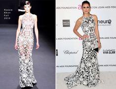 Nina Dobrev In Naeem Khan – 2013 Elton John AIDS Foundation Oscars Party