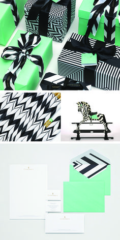 Brand Identity for Claridges, a luxury hotel by Construct. #blackandwhite #mint
