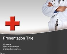 Medical History PowerPoint template is a free healthcare PowerPoint background template that you can download with a red cross and physician