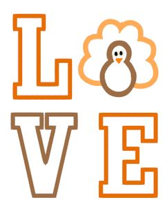 Designs :: Occasions :: Thanksgiving :: Love Turkey