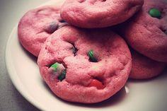 Pink M&M; Cookies
