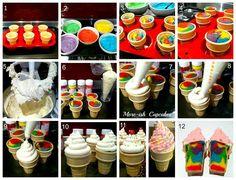 rainbow ice cream cone cakes more rainbow cake cone cupcakes birthday ...