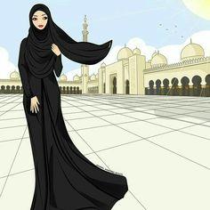 Girly M, Beautiful Muslim Women, Beautiful Hijab, Hijab Gown, Hijab Drawing, Dps For Girls, Anime Muslim, Hijab Cartoon, Islamic Girl