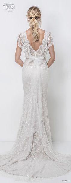 lihi hod 2018 bridal butterfly sleeves v neck full embellishent romantic bohemian a  line wedding dress v back chapel train (2) bv -- Lihi Hod 2018 Wedding Dresses