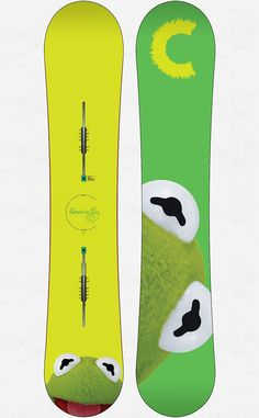 Burton Restricted Custom V featuring Kermit the Frog in 156. I see this in my near future.