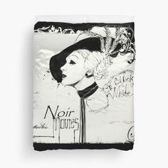 FILM NOIR Duvet Covers Queen (224cmx224cm) by Alchimia