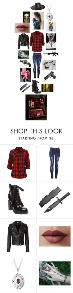 """""""The supernatural - Supernatural Hunter"""" by rosemarieyoung ❤ liked on Polyvore featuring beauty, Full Tilt, Steve Madden, RIFLE, Lancer Dermatology and IRO"""