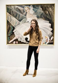 Alicia and Eddie at an exhibition of Gerda Wegener's art in Copenhagen.