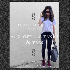 12 days of deals // Day 1 // Take 20% off all full priced tanks & tees  #idlehourboutique #dtfw #shopsmall #holidayshopping