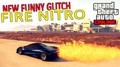 NOVO FUNNY GLITCH - GTA V - CARRO COM NITRO TROLL SUPER FOGO [MERCENA BUG]