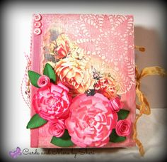 Shabby Chic Rose Junk Journal by CardsAndMoreBySheri on Etsy Texture Paste, Vintage Buttons, Junk Journal, Jewelry Making Supplies, Twine, Embellishments, Card Stock, Stencils, Glass Beads