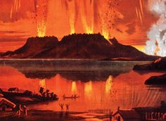 The eruption lasted six hours and caused massive destruction. It destroyed several villages, along with the famous silica hot springs known as the Pink and White Terraces. Science Resources, Teaching Science, Social Science, History Online, Close Reading, Teaching Materials, Hot Springs, New Zealand, Literature
