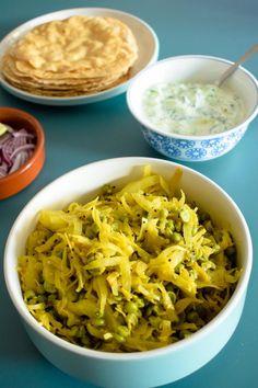 spicy cabbage & pea curry, kobi nu shaak, cabbage curry, gujarati recipe, indian curry, vegan, gluten free, vegetarian, low carb